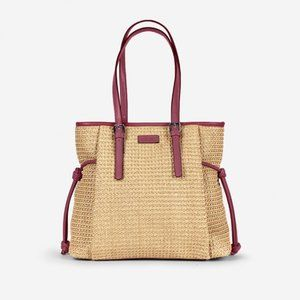 Soft Straw Shoulder bag tote handbag Vegan
